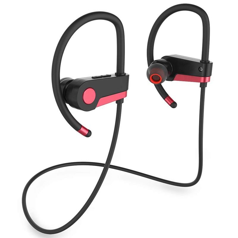 Wireless Headphones, Wireless Headphones Sport Bluetooth Earphones with Mic Noise Cancelling Headset Earbuds for Gym, Running, W