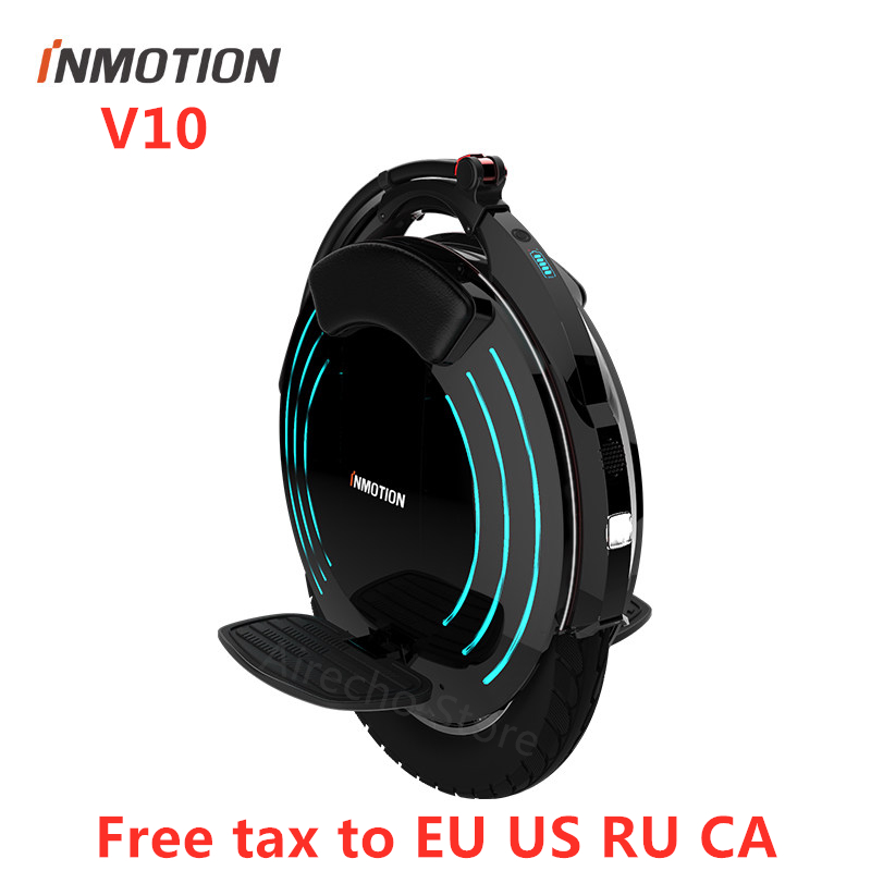 Original INMOTION V10 Self Balancing Electric Scooter 1800W 40km/h 70km Mileage Build-in Handle Unicycle Hover Skate Board