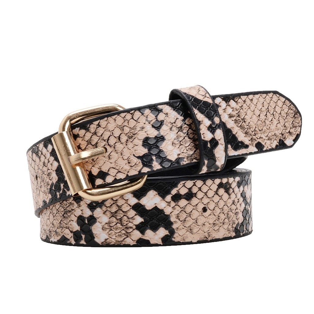 Snake Skin Metal Buckle Leopard Waistband Belt Fashion Club Party women belt  leather Girdle  accesorios mujer cinturon mujer