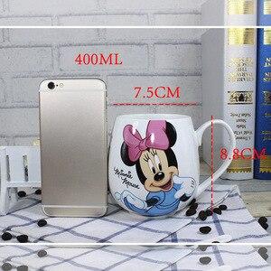 Image 2 - Heißer Disney Kinder 400ML Meter Maus Keramik Tasse Cartoon Muster Donald Duck Goofy Pluto Dame männer Cup Büro kaffee Milch Tassen