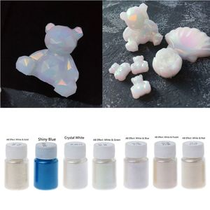7 Colors Magic Aurora Resin Mica Pearlescent Pigments Kit Colorants Resin Dye Jewelry Making Tools