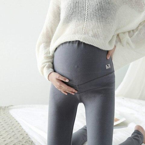 roupas para gravidas quente leggings gravidez para mulher elastica gravida magro legging calcas lapis fino