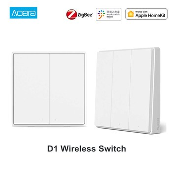 2020 Aqara D1 Wireless Smart Wall Switch 1/2/3 Button APP Voice Control Over-heat Protection Light Switch Work With Mi Home APP