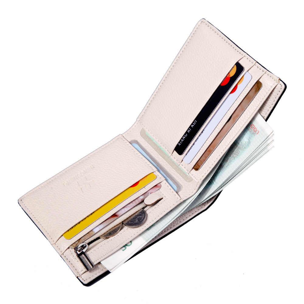 2020 Del Raccoglitore di Affari Degli Uomini di Multi-Card Slot Dell'unità di Elaborazione di Cuoio Della Moneta Borse Articolo Organizer Grande Capacità Cuzdan Vallet Maschile Breve sacchetto Dei Soldi
