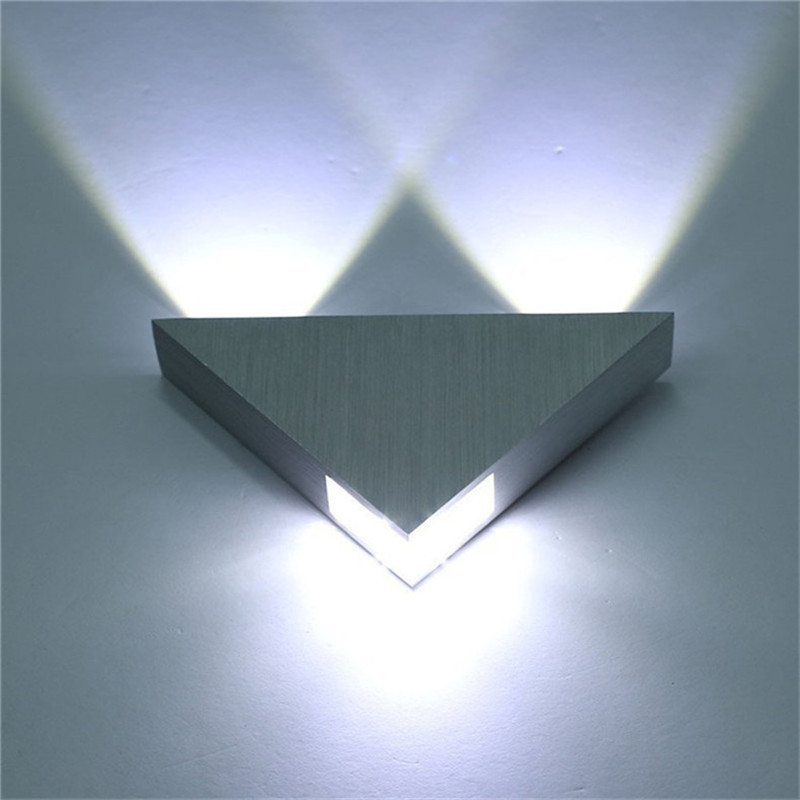 Modern Led Wall Lamp 3w Aluminum Body Triangle Wall Light For Bedroom Home Lighting Luminaire Bathroom Light Fixture Wall Sconce Led Indoor Wall Lamps Aliexpress