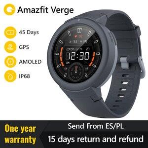 Image 1 - Huami Amazfit Verge Smart Watch  русский Спорт Смарт часы  gps Bluetooth воспроизведения музыки вызова Ответ сообщение Push сердечного ритма мониторы