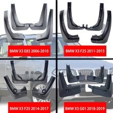 For BMW X3 E83 F25 G01 Mudguards X3 E83 F25 G01 Mud flaps bmw E83 F25 G01 car Fenders splash guards auto accessories 2006-2019 все цены