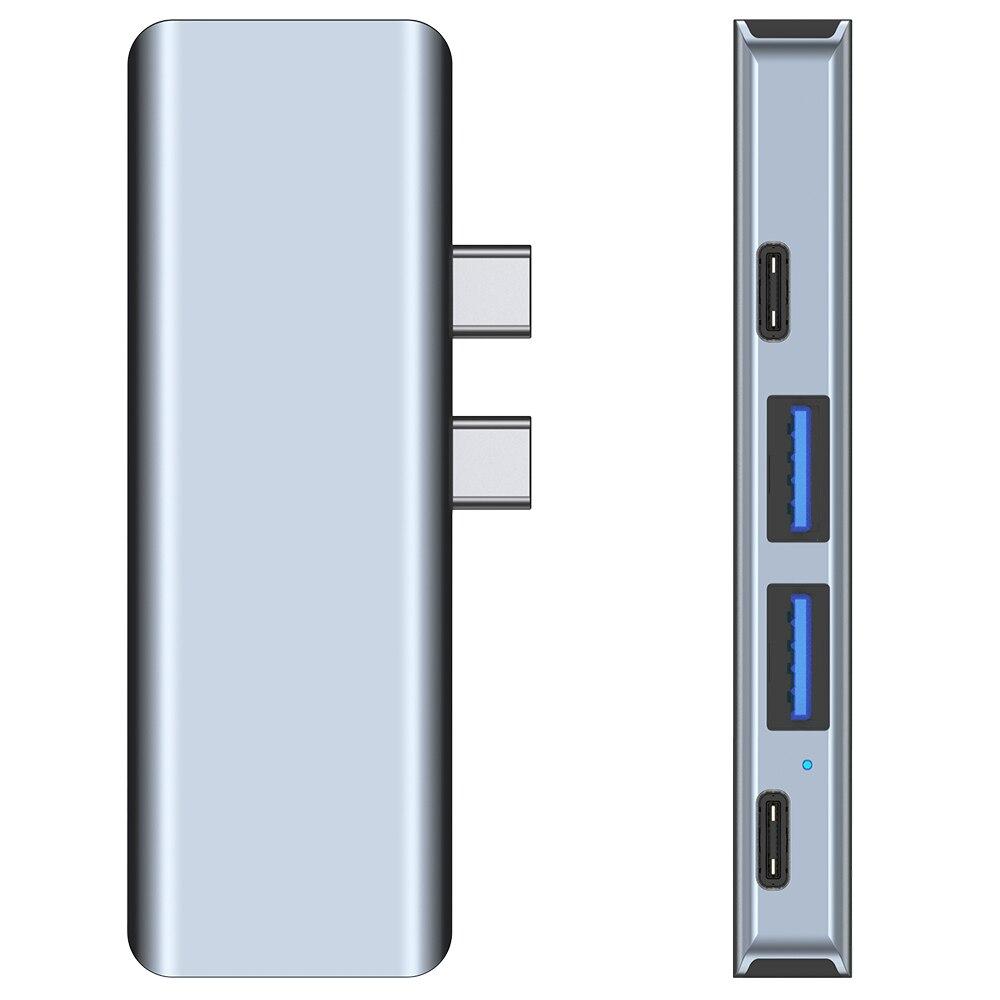 Directe Plug-In Type C Docking Station Pluggen Apple Macbook Adapter Pro Laptop Usb 3.0 Hub 5 7 Multi poort Pd Hdmi-Compat 5