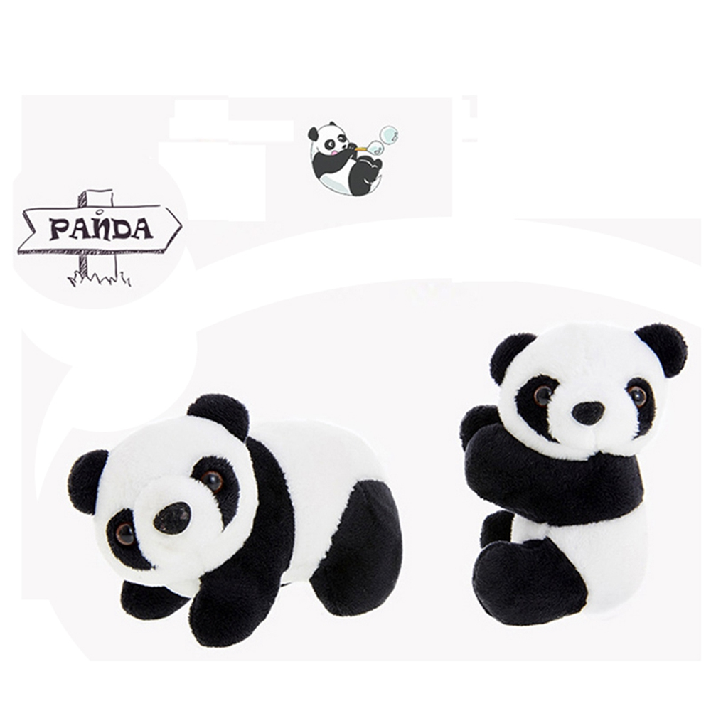 1 Pcs Creative Plush Panda Clip Hug Small Stuffed Animal Doll Toy Curtain Clip Bookmark Notes Souvenir Toys For Children