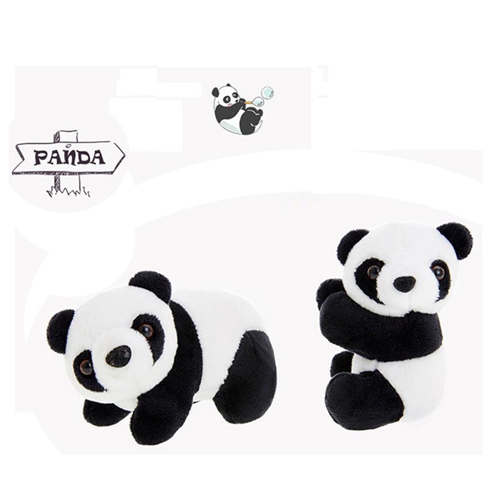1 Pcs Creative Plush Panda Clip Hug Small Stuffed Animal Doll Toy Curtain Clip Bookmark Notes Souvenir Toys For Children