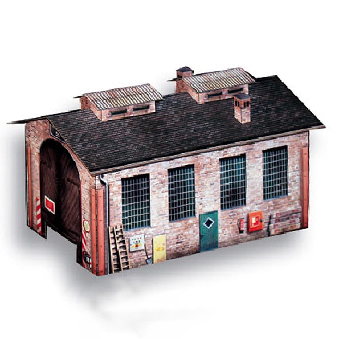 1:87 HO Scale Handmade Warehouse House Paper Model Sand Table Warehouse Model  Ho Scale Model Accessories