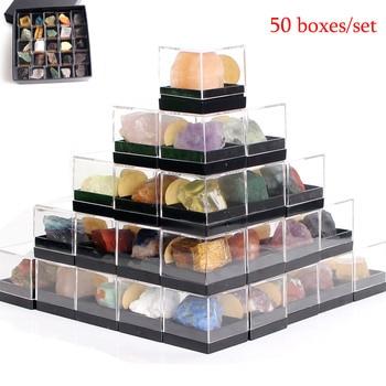 50 шт. набор натуральных необработанных камни, оригинальный камень, гравий, минеральное бриллиант, образовательный подарок на день рождения с бесплатной коробкой