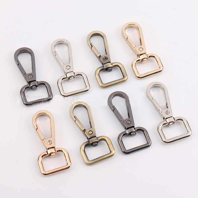 2Pcs Metal Leather Belt Strap Bag Buckles Metal Clasps Lobster Dog Collar Keychain Swivel Trigger Clips Snap Hook DIY Accessory
