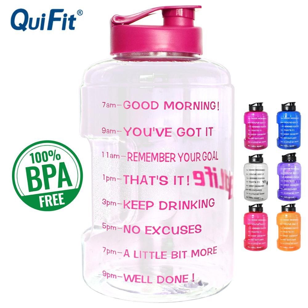 Plastic Wide Mouth Big Drinking Water+Bottles 2.5L 3.78L Gallon Jug BPA