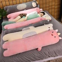Pig Plush-Toy Dinosaur Monkey Long-Pillow Chicken Rabbit Cartoon Animal Stuffed Doll