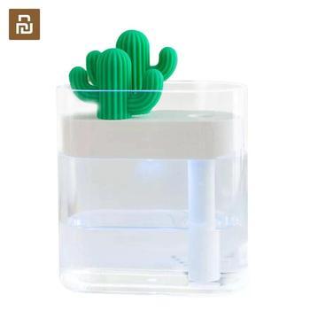 Youpin Sothing 319 wyczyść kaktus ultradźwiękowy nawilżacz powietrza 160ML kolor światła USB oczyszczacz powietrza Atomizer wody Anion Mist Maker