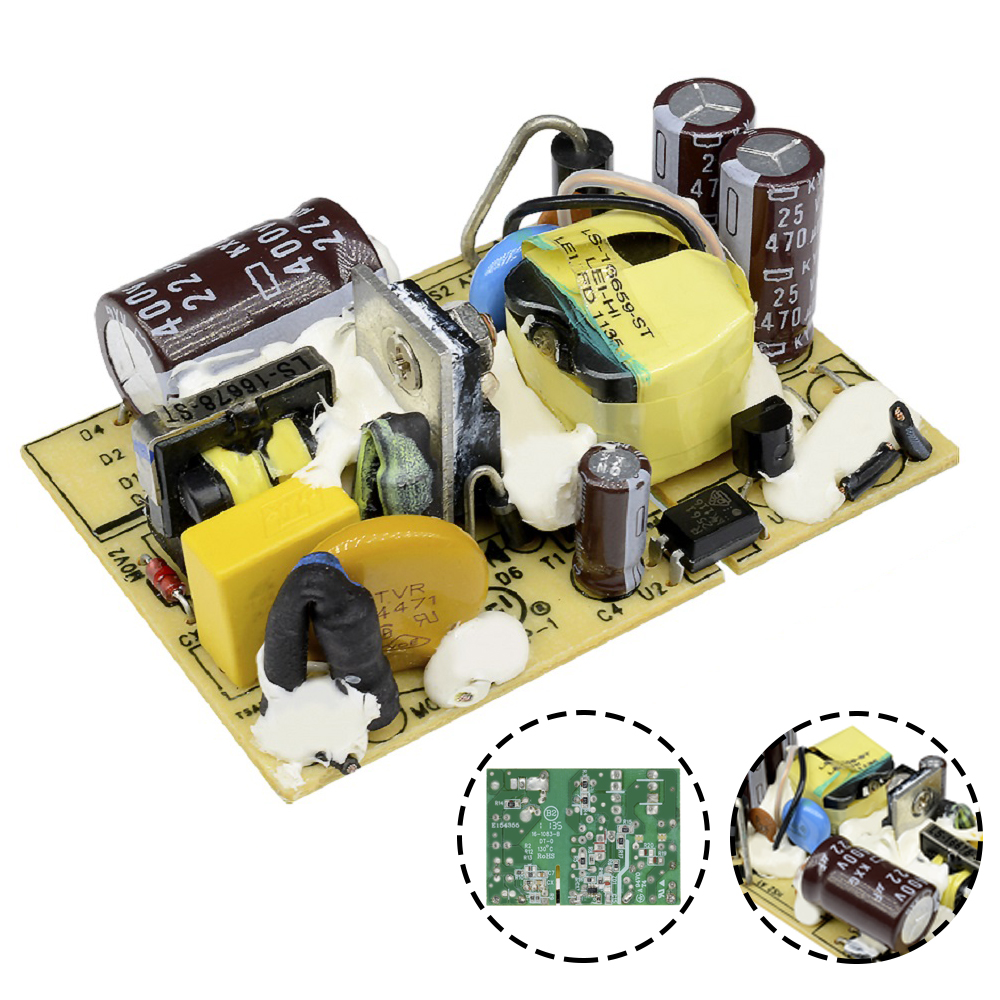 <font><b>12V</b></font> 2A Switching Module AC-DC DC Power Supply Voltage Regulator Switch <font><b>Circuit</b></font> Bare <font><b>Board</b></font> Monitor <font><b>LED</b></font> Lights AC 110V 220V SMPS image