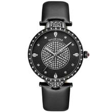 Stylish See-through Style Band Unique Logo-embossed Crown Luxury Quartz Watch with Stainless Steel Buckle for Taylor Cole Luxury(China)