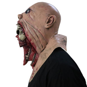 Image 3 - Latex Zombie Halloween Mask Melting Horror Costume Dead Scary Head Masks Bloody