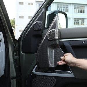Image 1 - لاند روفر المدافع 110 2020 2021 ABS ألياف الكربون باب السيارة بوق عمود الديكور ملصقات غطاء اكسسوارات السيارات