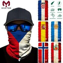 3D flaga narodowa bez szwu motocykl magiczna osłona na twarz Motocross jazda szalik rurowy kominiarka kominiarka Bandana anty-uv mężczyzn