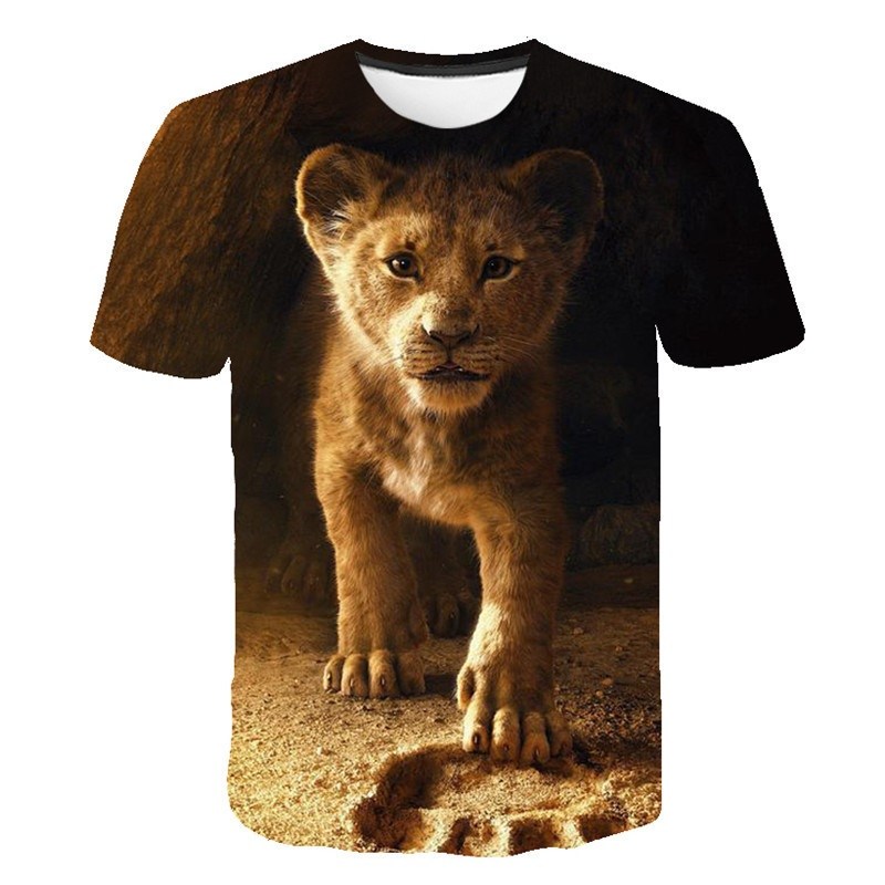 Mens T-shirt 3D Print Lion King Pattern Printed Clothes 2020 Fashion Latest Kids Clothes Casual Breathable Tops Boys Clothes