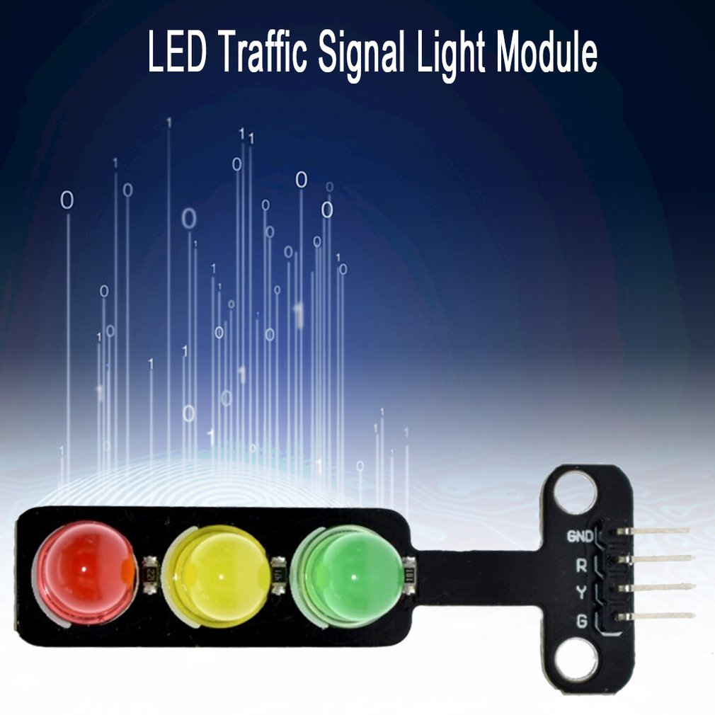 Led Traffic Light Module 5V Traffic Light Lighting Module Digital Signal Output Ordinary Brightness 3 Light Separate Control