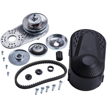 For Go Kart Torque Converter 1″ Clutch 12T+10T 40/41Chain Heavy Duty 30 Series 5/8″ Id 6″ Diameter Driven Clutch & 1″ Bore
