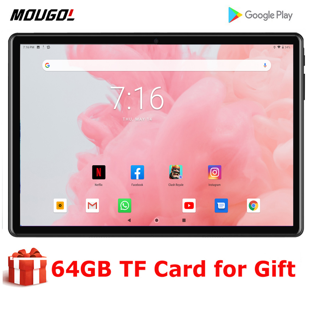 2020 New 10 Inch Tablet Android 9.0 Quad Core 2GB/32GB Dual Camera 5.0MP SIM Tablet Pc WiFi Bluetooth 3G Phone Tablet