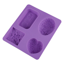 Soap-Making-Mold Silicone DIY 4-Cavity Kitchen-Accessories Bathroom Handmade Easy Heart-Shapes