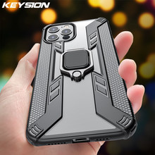 KEYSION clair antichoc étui pour iPhone 12 Pro Max Transparent Silicone anneau téléphone couverture arrière pour iPhone 12 12 Mini 2020 i12