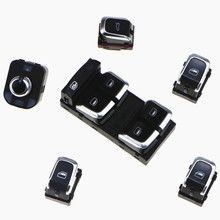 SCJYRXS Driver Side Electric Master Window Control Passenger Button Switches View Mirror Knob Trunk Switch For A4 S4 Q5 A5 стоимость