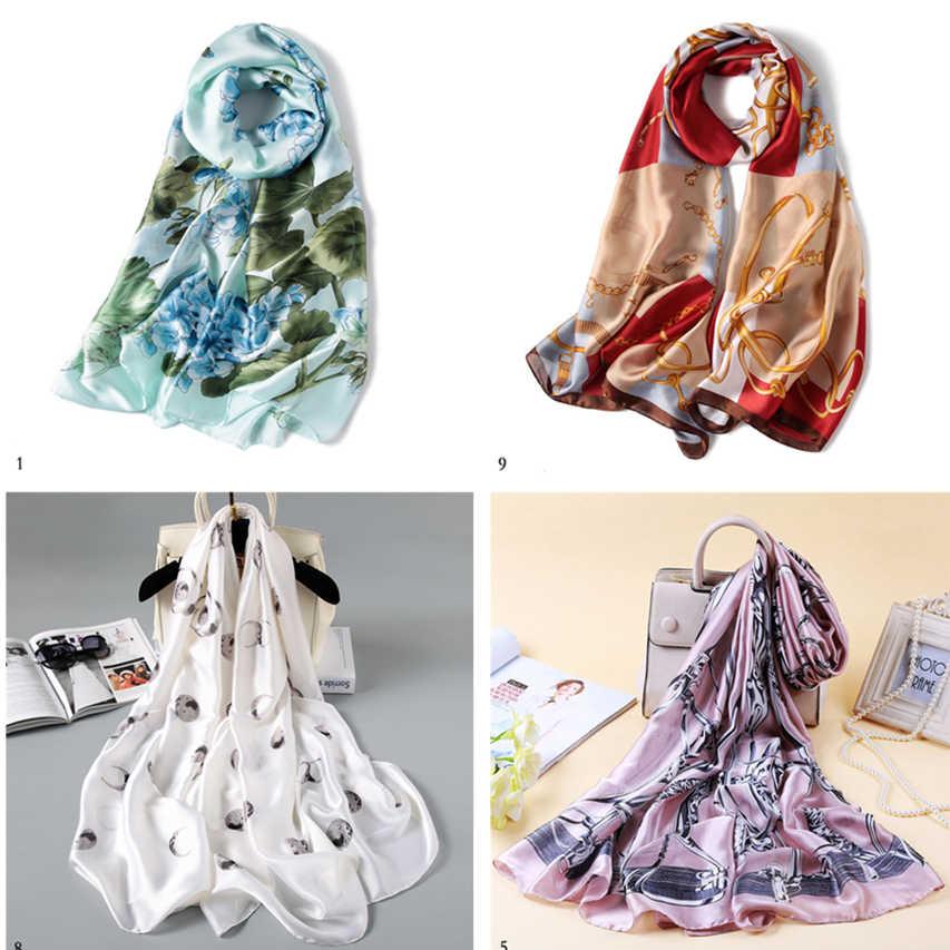 2019 summer Fashion winter women scarf silk scarves shawls and wraps long size soft bandana pashmina female foulard beach stoles