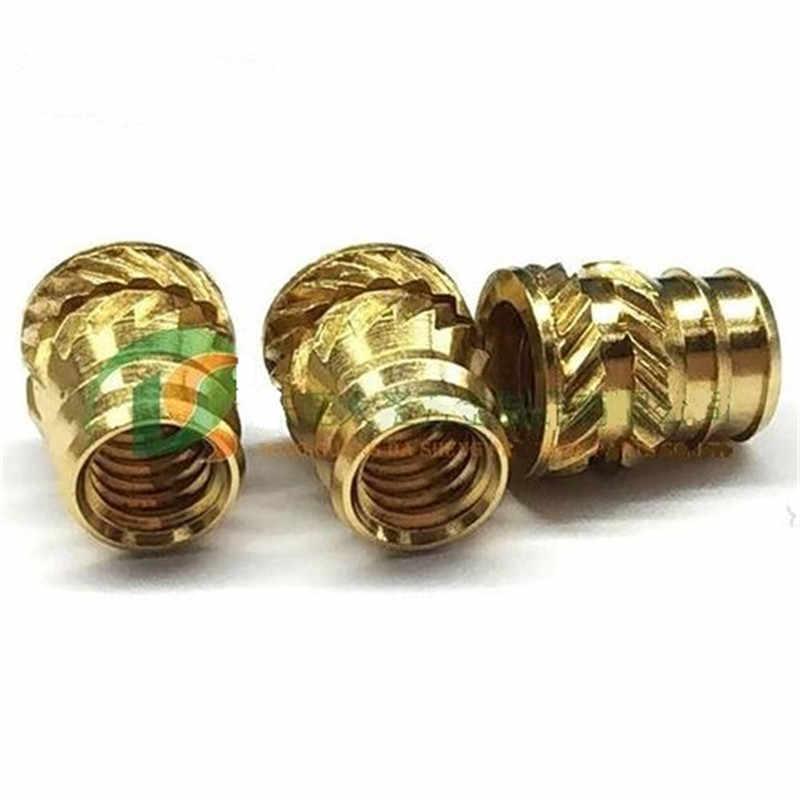 ITB-080/256/440 Brass Insert Nut knukles Nuts Insertos Knurling Copper Rivnut Threaded Rivet Ecrou Cejilla Inserti Tuerca Moeren