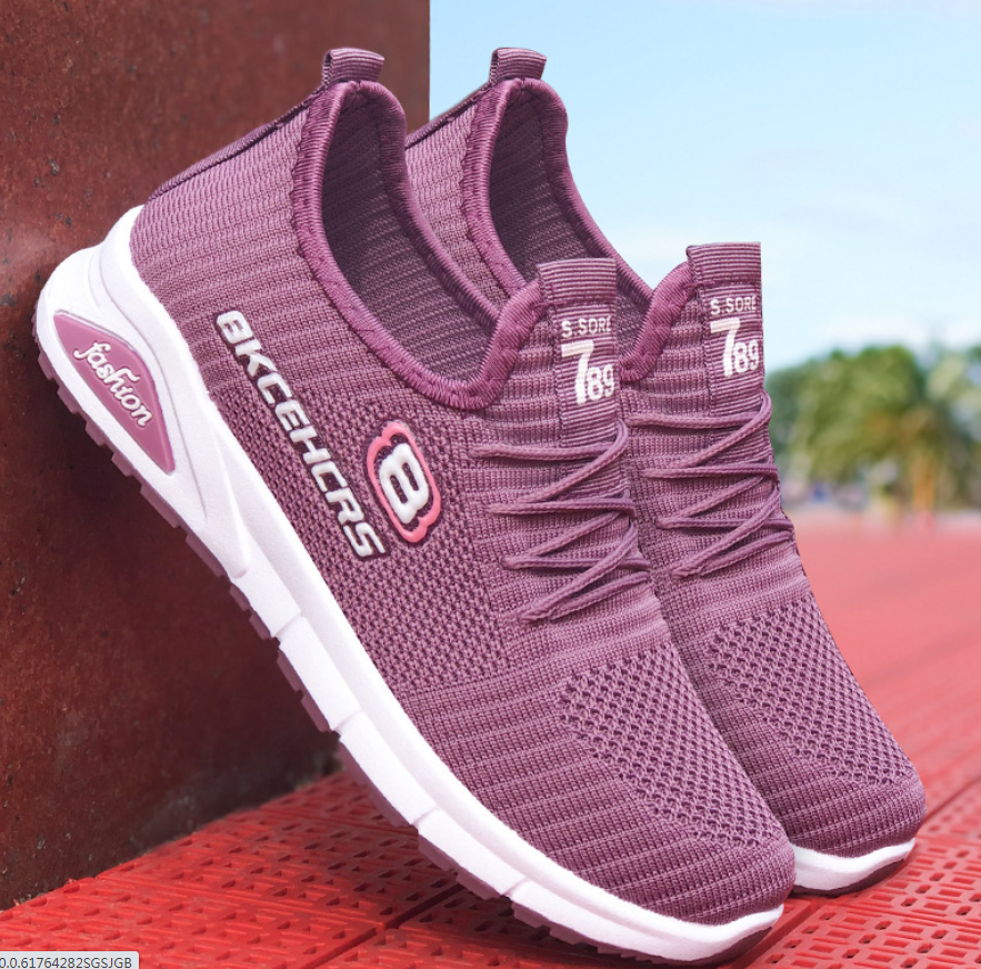 Hot Sale Linghtweight Women Sport Running Shoes Summer Fashion Casual Shoes Mesh Breathable Women Sneakers