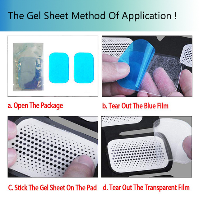 Gel Pads for EMS Abdominal ABS Trainer Weight Loss Hip Muscle Stimulator Exerciser Replacement Massager Gel Patch 5