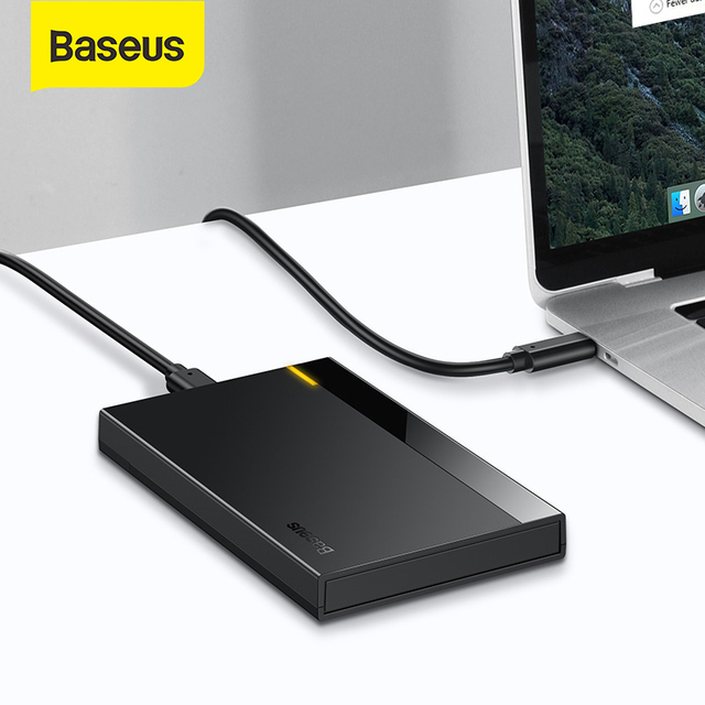 Baseus HDD Case 2.5 SATA to USB 3.0 Adapter Hard Disk Case HDD Enclosure for SSD Case Type C 3.1 HDD Box HD External HDD Caddy 1