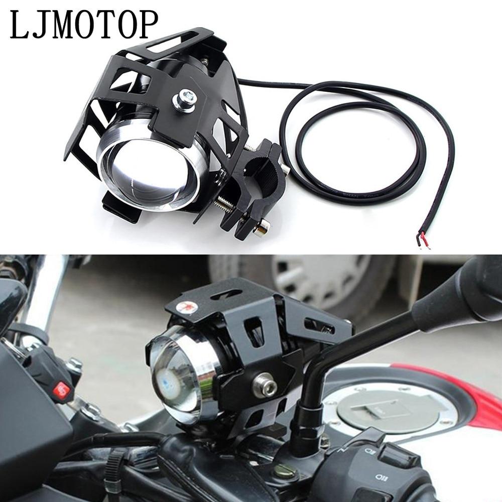 Motorcycle Headlights Auxiliary Lamp U5 Led Spotlight 12V DRL For Honda CBR650R CB650R CB125R CBR900RR XADV 750 X-11 CBR250R