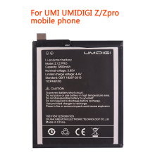 ZQTMAX 3800mAh 3.85V UMI Z PRO Replacement Battery For UMI UMIDIGI Z/Zpro Li-ion Bateria Li-Polymer phone jjrc 1000 07 replacement 250ma li ion polymer battery for r c quadcopter v262 f180 more silver
