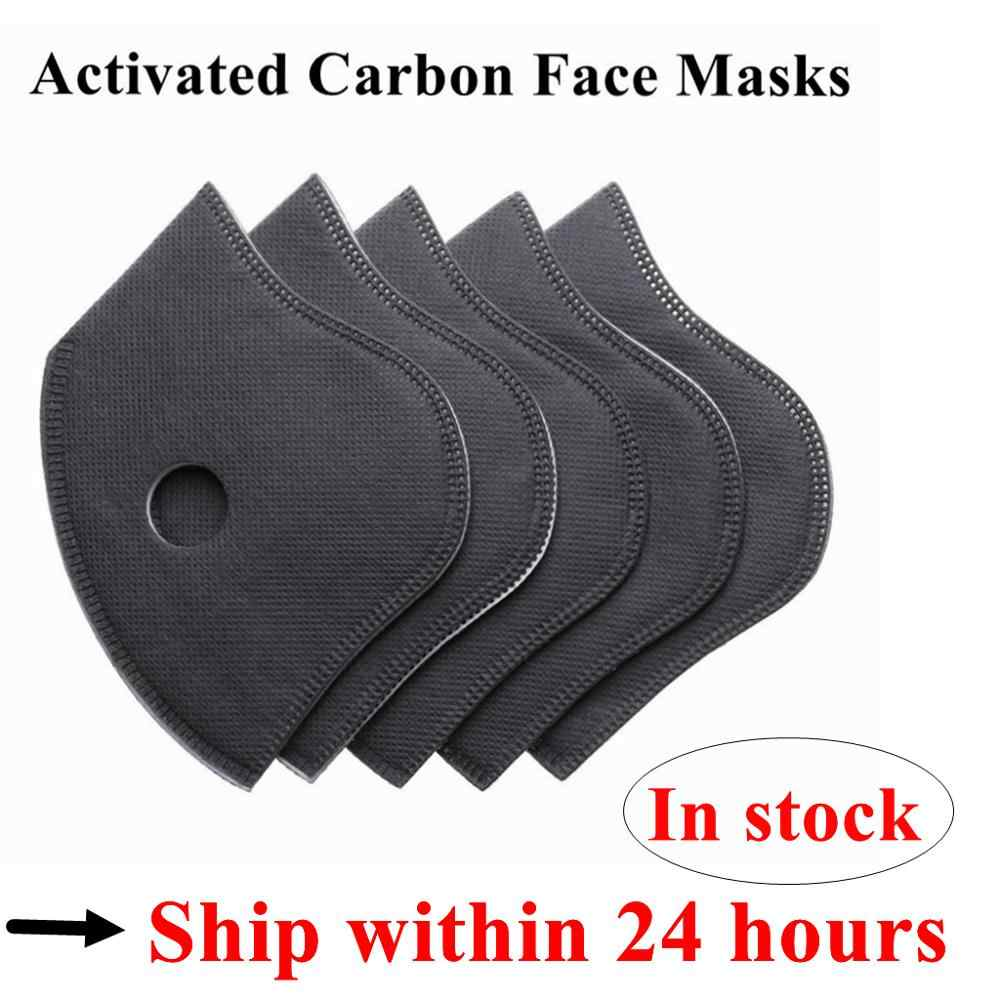 5 Pc Activated Carbon + Ademende Vezel PM2.5 6 Lagen Particulate Gezichtsmasker Filter Anti-Dust Fietsen Masker Air cleaner Dust Tool