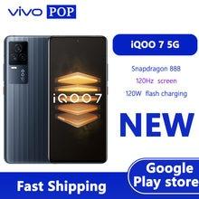 Vivo iqoo 7 5g gaming telefone móvel 6.62 polegada amoled 120hz snapdragon 888 android 11 face desbloquear 120w carga flash google play