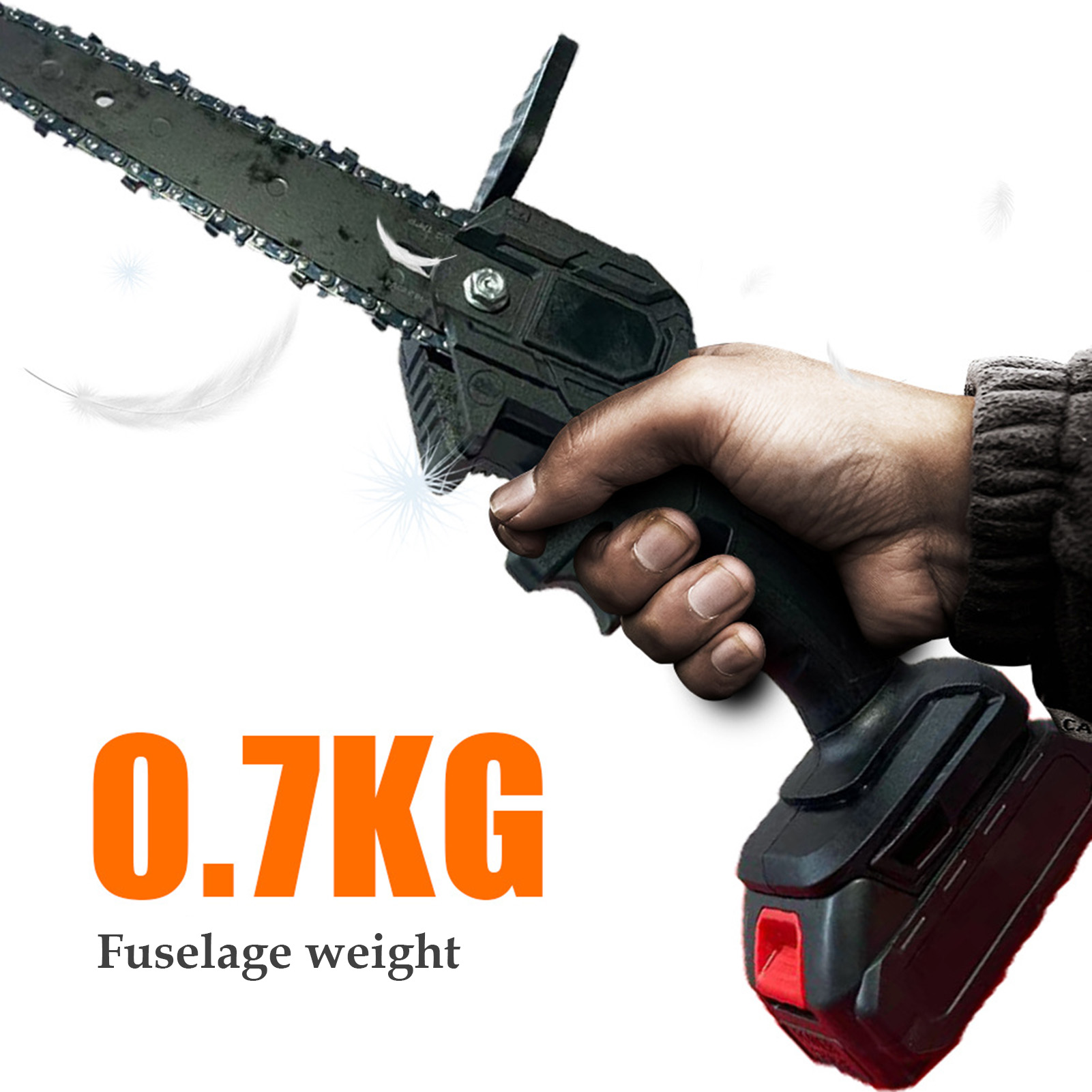 Tools : 550W Pruning Saw 6-Inch Handheld Cordless Electric Chainsaws Removable For Fruit Tree Garden Trimming With Lithium Battery One