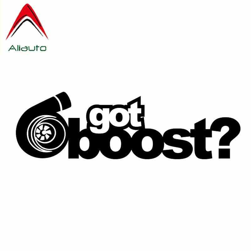 Aliauto criativo adesivo do carro tem boost turbo acessórios decalque de vinil à prova dwaterproof água para hyundai toyota mercedes mazda cx 5,13cm * 4cm