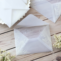 20pc/set Blank Envelope Sulfuric Acid Paper Leaves Plant Pattern Envelope for Postcard Kid Gift Birthday Card Stationery 14x19cm