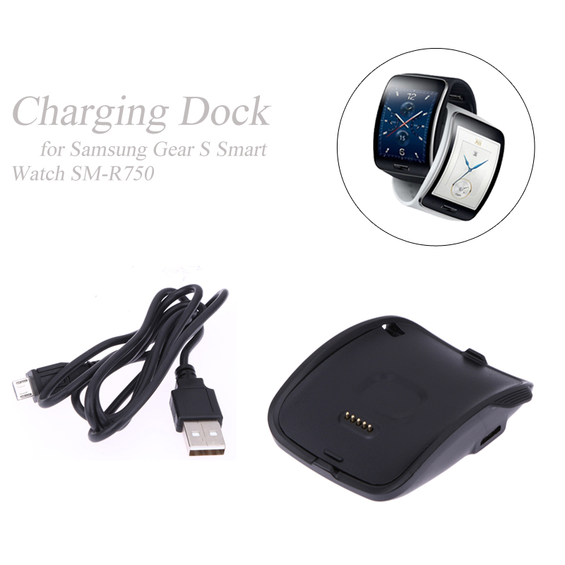 Wristband Smart Watch <font><b>Charging</b></font> Cradle Power Supply <font><b>Dock</b></font> Charger Cradle for <font><b>Samsung</b></font> Galaxy <font><b>Gear</b></font> <font><b>S</b></font> Smart Watch SM-R750 for Travel image