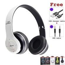 Novos fones de ouvido sem fio 5.0 bluetooth fones de ouvido fone música estéreo capacetes jogos dobrável para o telefone pc tablet presente