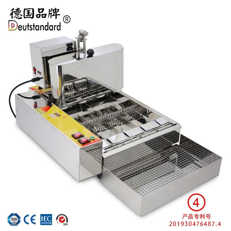 German Fully Automatic Doughnut Machine ,mini Donut Machine Four Rows, Auto Sweet Doughnu Oil Fried Doughnut Np-4 Machine Reasonable Price