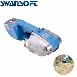 SWANSOFT 220V Portable Electric Plastic Steel Belt Strapping Machine for PP or PET Strap, Strapping Width13-16mm
