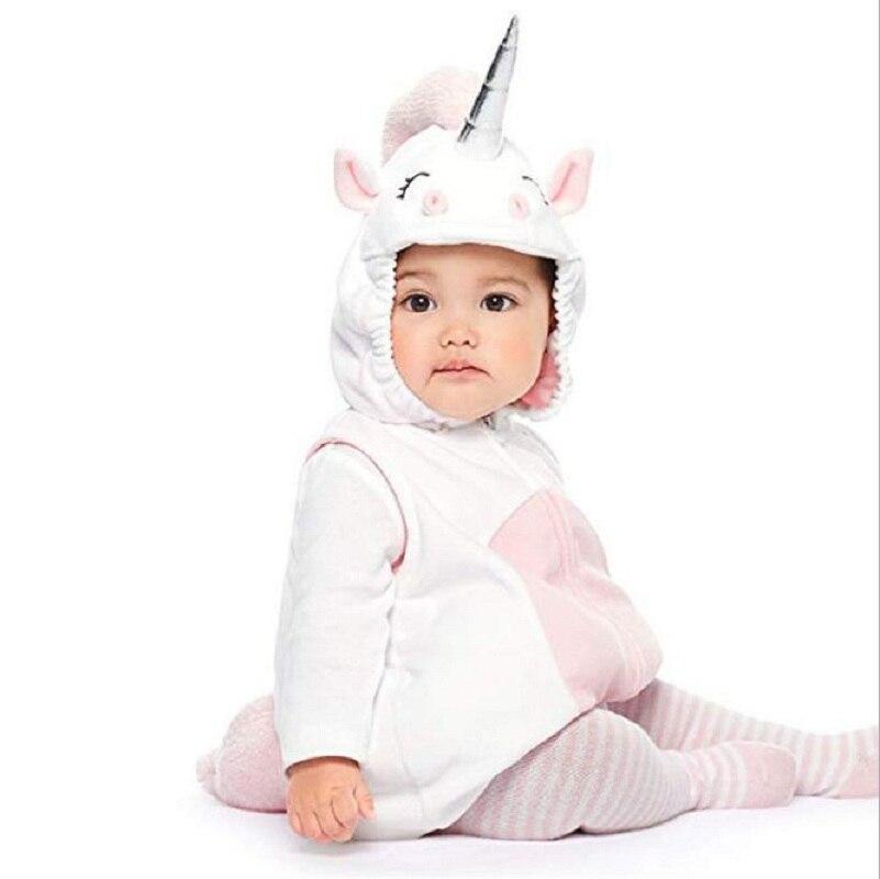 Одежда для маленьких девочек; карнавальный костюм на Хэллоуин с изображением единорога и фруктов; Одежда для новорожденных мальчиков; Рождественский подарок; комплект одежды для младенцев - Цвет: 3