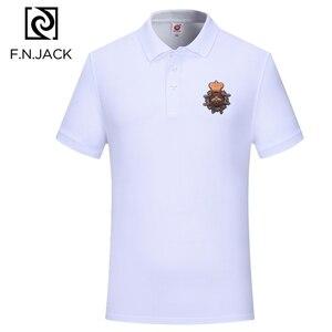 Image 3 - F.N.JACK Polo à manches courtes pour homme, modèle tendance classique en coton, couleur unie, été, décontracté